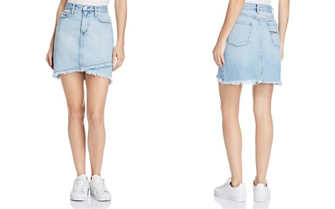 Nobody Crossover Denim Skirt in Flirt - Bloomingdale's_2