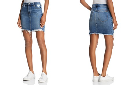 Joe's Jeans Frayed Denim Skirt in Skyler - Bloomingdale's_2