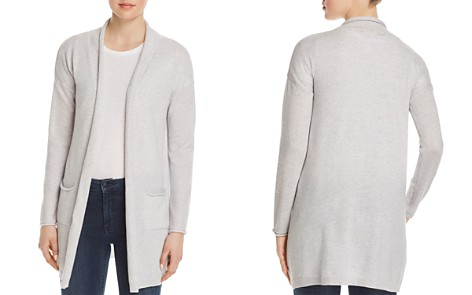 Sundry Patch Pocket Open-Front Cardigan - Bloomingdale's_2