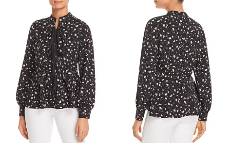 Marled Daisy-Print Lace-Up Top - Bloomingdale's_2