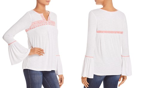 Design History Embroidered Bell-Sleeve Top - Bloomingdale's_2