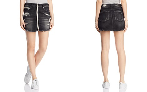 True Religion Denim Zip Skirt in Garter Black - Bloomingdale's_2