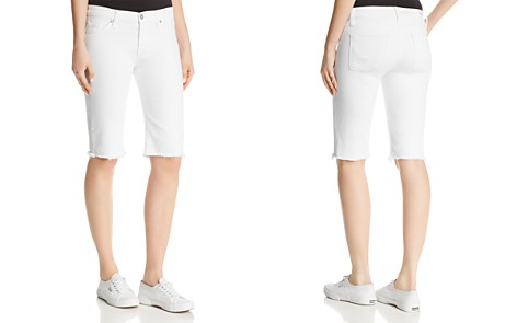Hudson Amelia Over-the-Knee Denim Shorts in Optical White - Bloomingdale's_2