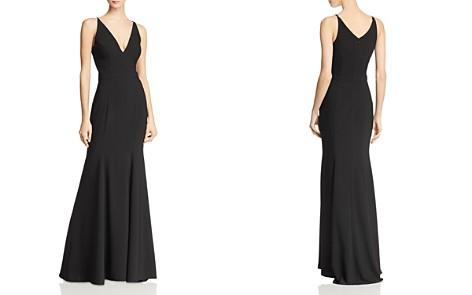 AQUA Crepe Mermaid Gown - 100% Exclusive - Bloomingdale's_2