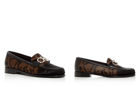 Salvatore Ferragamo Women's Rolo Reversible Gancini Leopard Print Calf Hair Loafers - Bloomingdale's_2