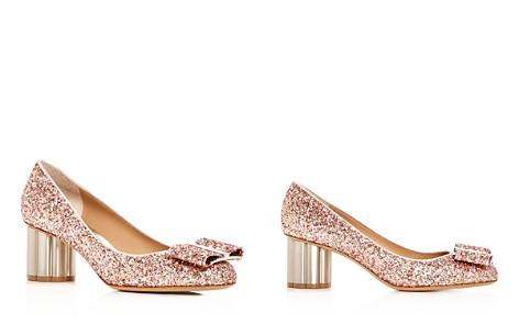 Salvatore Ferragamo Women's Capua 55 Glitter Floral Heel Pumps - Bloomingdale's_2