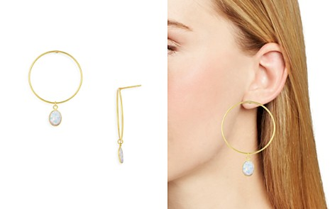 Argento Vivo Simulated Opal Loop Drop Earrings - Bloomingdale's_2