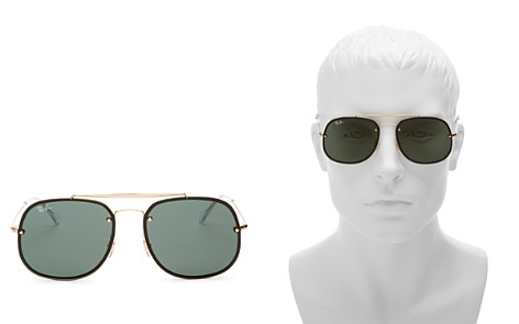 Ray-Ban Blaze General Brow Bar Square Aviator Sunglasses, 58mm - Bloomingdale's_2