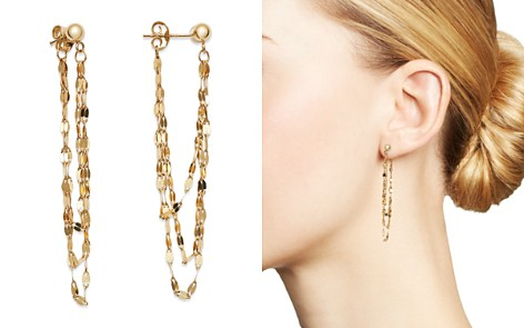 Moon & Meadow Draped Triple Chain Drop Earrings in 14K Yellow Gold - 100% Exclusive - Bloomingdale's_2