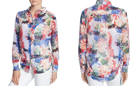 CATHERINE Catherine Malandrino Spencer Floral Print Blouse - Bloomingdale's_2