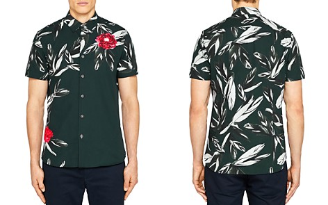 Ted Baker Bartwo Placement Print Regular Fit Button-Down Shirt - Bloomingdale's_2