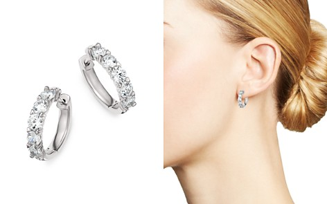 Bloomingdale's Diamond Hoop Earrings in 14K White Gold, 1.50 ct. t.w. - 100% Exclusive _2