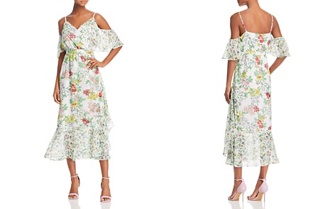 nanette Nanette Lepore Cold-Shoulder Floral Print Midi Dress - Bloomingdale's_2