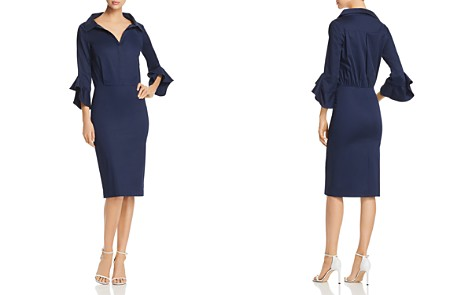 Badgley Mischa Flutter-Sleeve Pencil Shirt Dress - Bloomingdale's_2