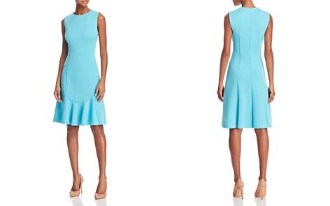 Elie Tahari Lizzie Ponte Flutter Dress - Bloomingdale's_2