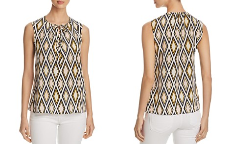 Tory Burch Jess Diamond-Print Silk Top - Bloomingdale's_2