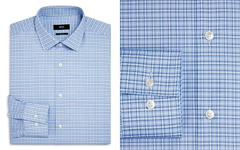 BOSS Dash Check Slim Fit Dress Shirt - Bloomingdale's_2