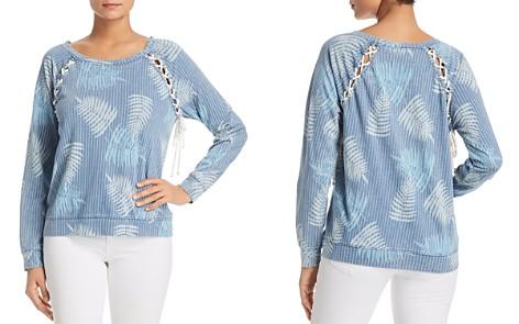 Billy T Printed Lace-Up Sweatshirt - Bloomingdale's_2
