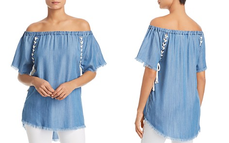 Billy T Lace-Up Off-the-Shoulder Top - Bloomingdale's_2