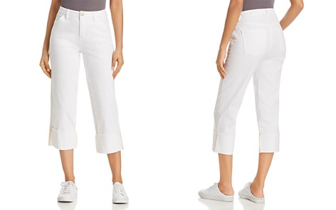 JAG Jeans Eden Wide-Cuff Cropped Jeans in White - Bloomingdale's_2