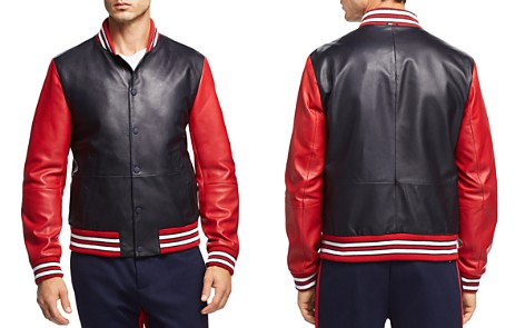Tommy Hilfiger Essential Leather Varsity Bomber Jacket - Bloomingdale's_2