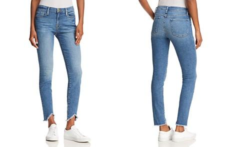 FRAME Le Skinny De Jeanne Triangle Hem Jeans in White Chapel - Bloomingdale's_2