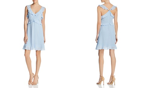 AQUA Clip Dot Ruffled Dress - 100% Exclusive - Bloomingdale's_2