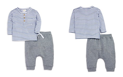 Bloomie's Boys' Striped Tee & Jogger Pants Set, Baby - 100% Exclusive - Bloomingdale's_2