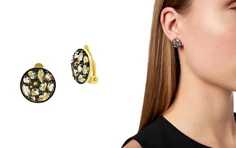 Freida Rothman Rose d'Or Pavé Cluster Clip-On Earrings - Bloomingdale's_2