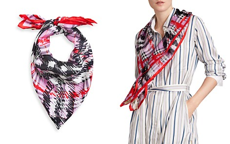 Burberry Scribble Check Silk Square Scarf - Bloomingdale's_2