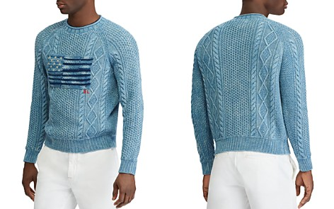 Polo Ralph Lauren Indigo Flag Crewneck Sweater - Bloomingdale's_2