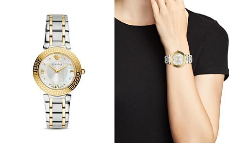 Versace Daphnis Greca Engraved Two-Tone Watch, 35mm - Bloomingdale's_2