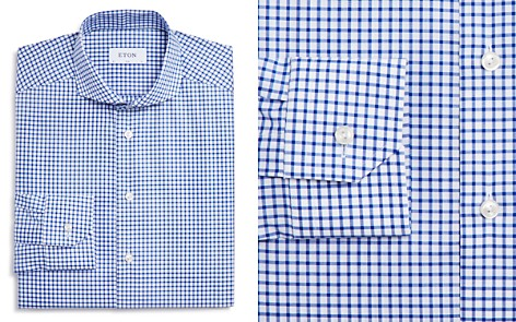 Eton Thick Check Slim Fit Dress Shirt - Bloomingdale's_2