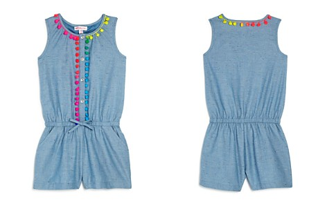 Design History Girls' Pom-Pom Denim Romper - Little Kid - Bloomingdale's_2