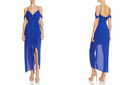 Bardot Lalia Cold-Shoulder Faux-Wrap Maxi Dress - Bloomingdale's_2
