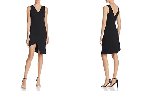 AQUA Asymmetric Ponte Sheath Dress - 100% Exclusive - Bloomingdale's_2
