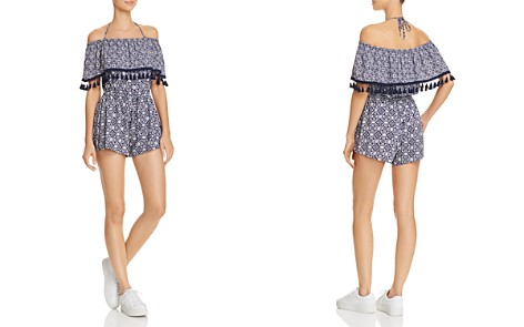 Jack by BB DAKOTA Genisis Printed Off-the-Shoulder Romper - Bloomingdale's_2