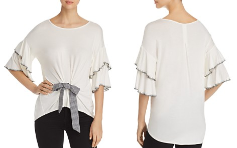 Kim & Cami Flutter-Sleeve Bow Top - Bloomingdale's_2