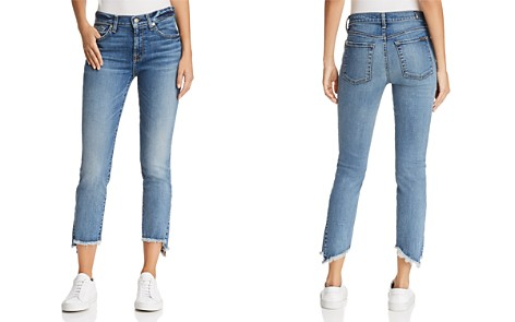 7 For All Mankind Skinny Frayed-Hem Jeans in Canyon Ranch - Bloomingdale's_2
