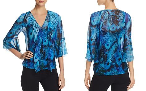 Elie Tahari Faith Feather-Print Silk Blouse - Bloomingdale's_2