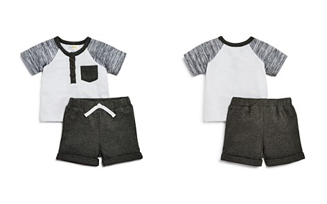 Bloomie's Boys' Henley Tee & Shorts Set, Baby - 100% Exclusive - Bloomingdale's_2