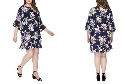 B Collection by Bobeau Curvy Royal Garden Flutter Dress - Bloomingdale's_2