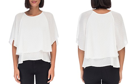 B Collection by Bobeau Sawyer Swiss Dot Layered Top - Bloomingdale's_2