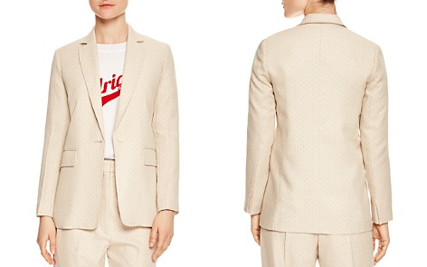 Sandro Theora Printed Single-Button Blazer - Bloomingdale's_2