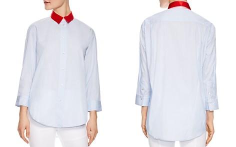 Sandro Effie Striped Silk-Collar Shirt - Bloomingdale's_2