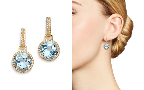 Kiki McDonough 18K Yellow Gold Grace Round Blue Topaz & Diamond Drop Earrings - Bloomingdale's_2