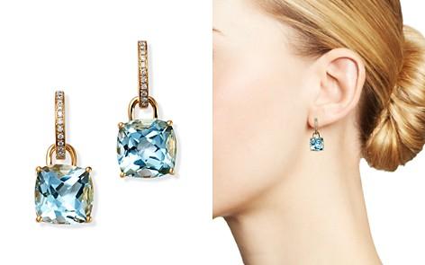 Kiki McDonough 18K Yellow Gold Classics Cushion-Cut Blue Topaz & Diamond Drop Earrings - Bloomingdale's_2