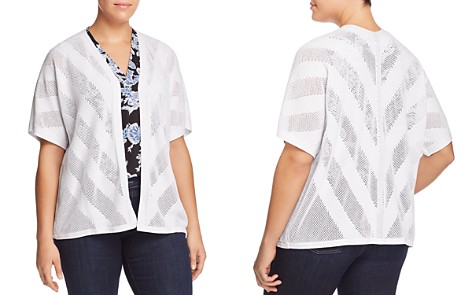 VINCE CAMUTO Plus Chevron Pointelle Cardigan - Bloomingdale's_2