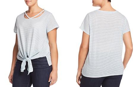 Lucky Brand Plus Striped Tie-Waist Tee - Bloomingdale's_2