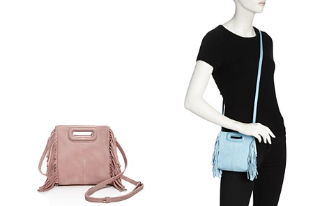 Maje Mini M Suede Crossbody - Bloomingdale's_2